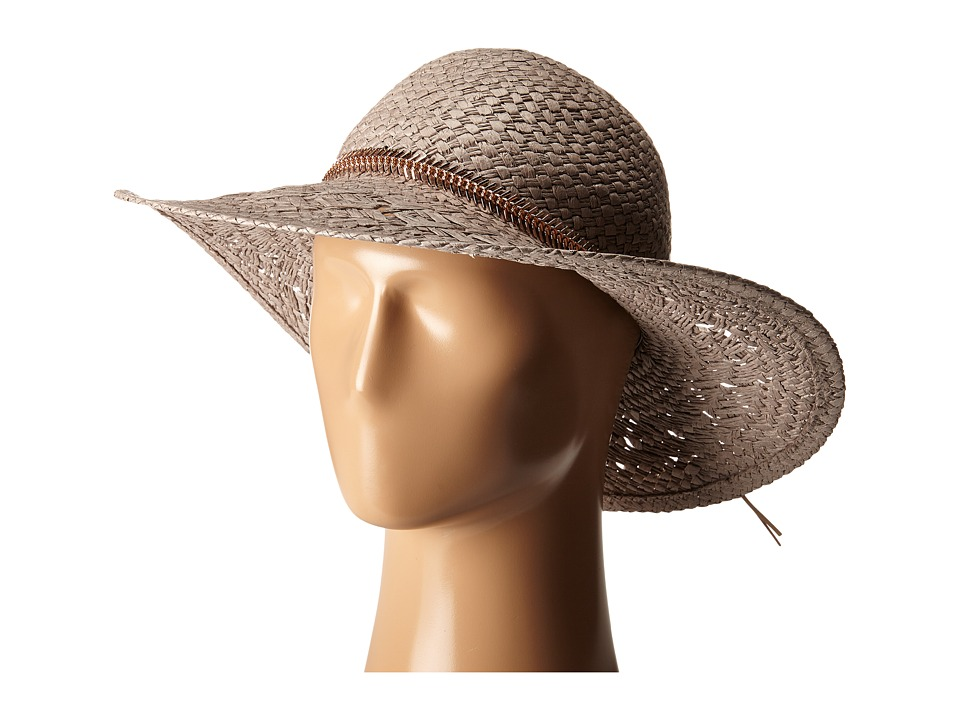 BCBGeneration Feather Chain Floppy Hat Taupe Caps