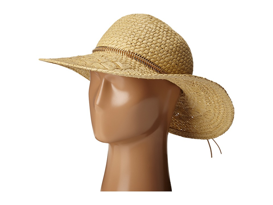 BCBGeneration Feather Chain Floppy Hat Wheat Caps