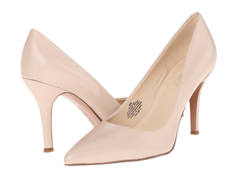 Nine West Flax Light Natural Leather 1 High Heels