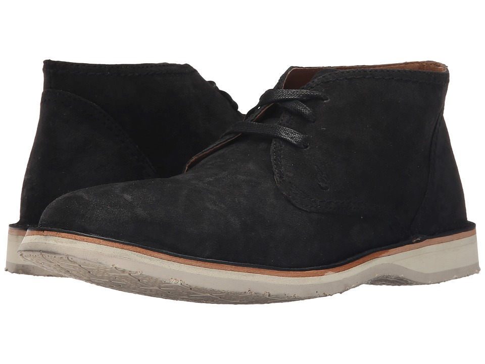 John Varvatos Hipster Chukka Mineral Black Mens Lace up Boots