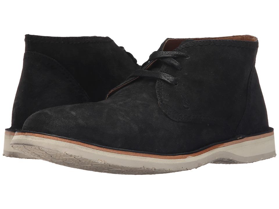 John Varvatos Hipster Chukka Mineral Black Mens Lace up Boots