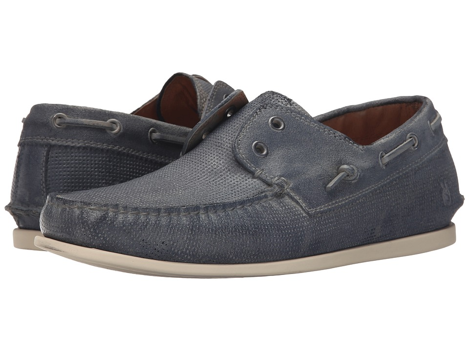 John Varvatos Schooner Boat Steel Blue Mens Slip on Shoes