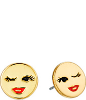 Kate Spade New York - Tell All Winking Emoji Stud Earrings