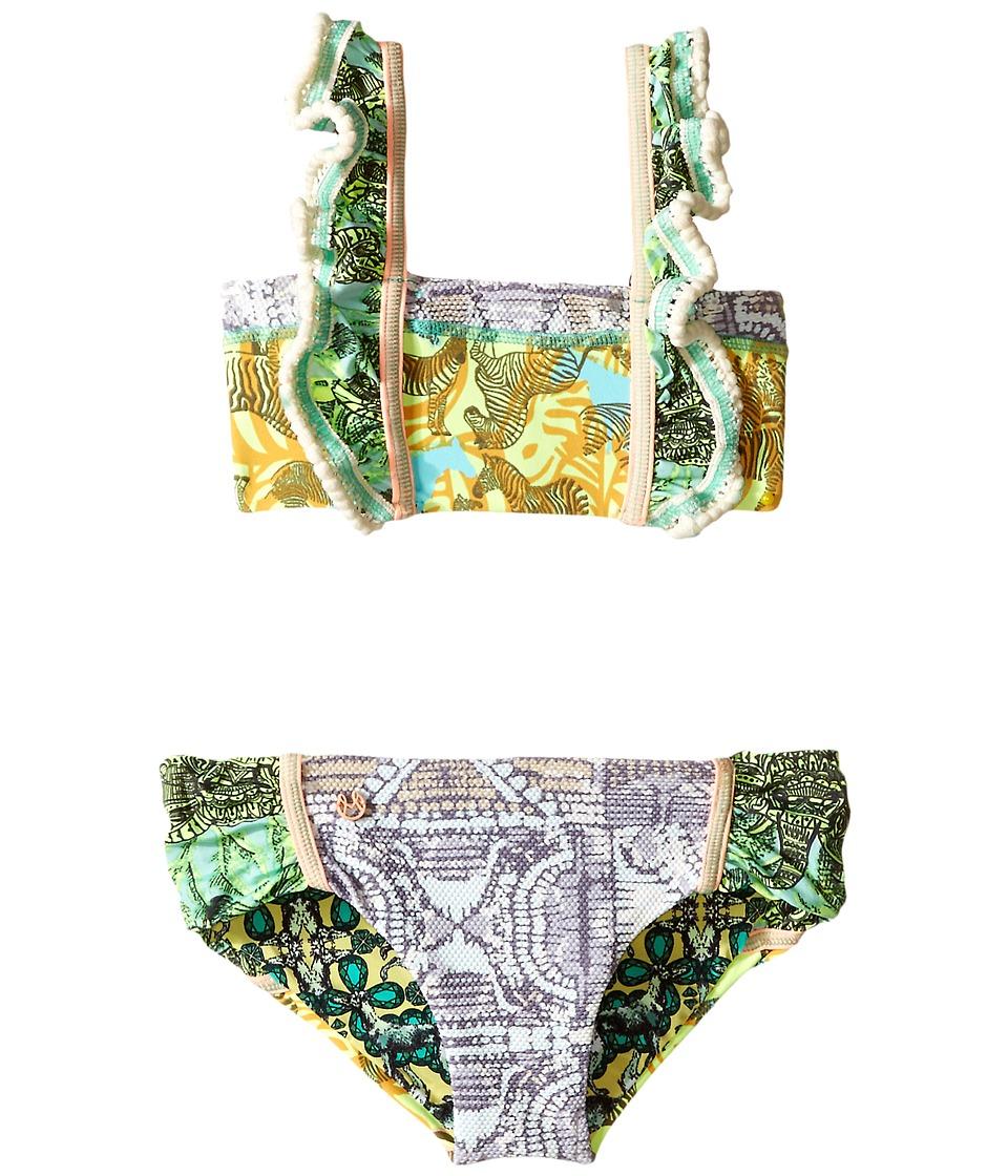 Maaji Kids Lime Karaoke Ruffle Bikini Set Toddler/Little Kids/Big Kids Multicolor Girls Swimwear Sets