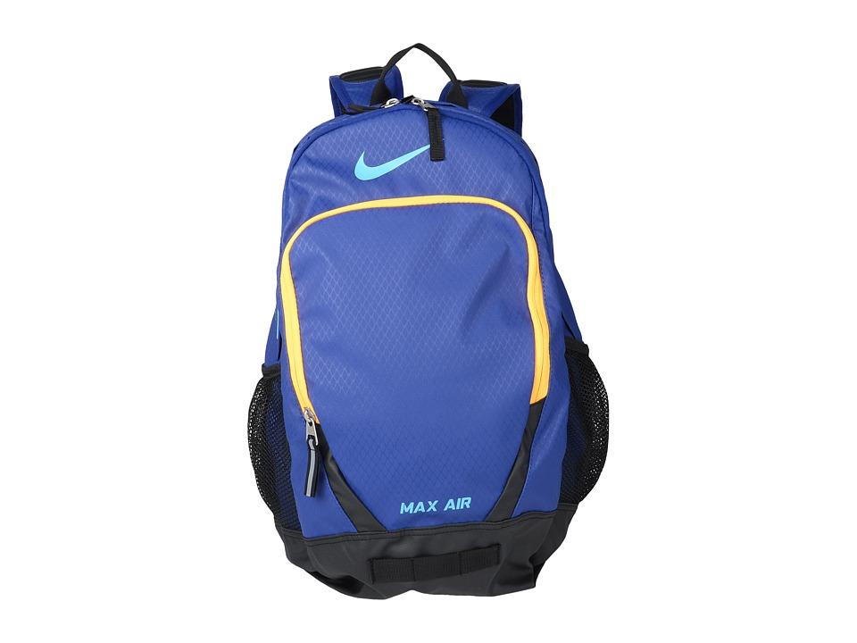 Nike - Team Training Max Air Large Backpack (Deep Royal Blue/Hyper Pink/Omega Blue) Backpack Bags