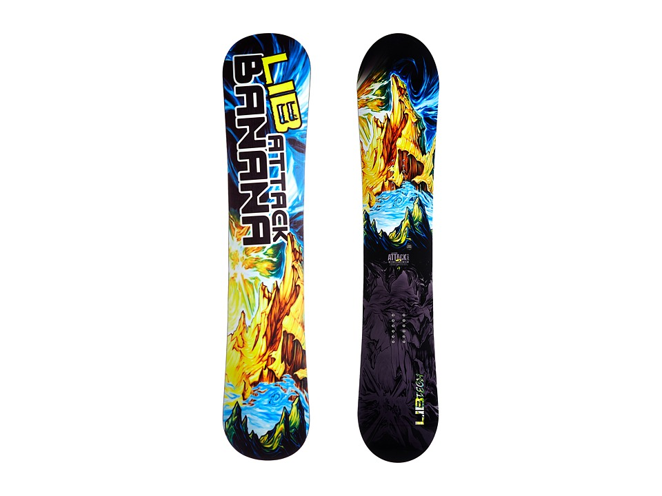 Lib Tech Attack Banana 156w EC2 2015 Multi Snowboards Sports Equipment