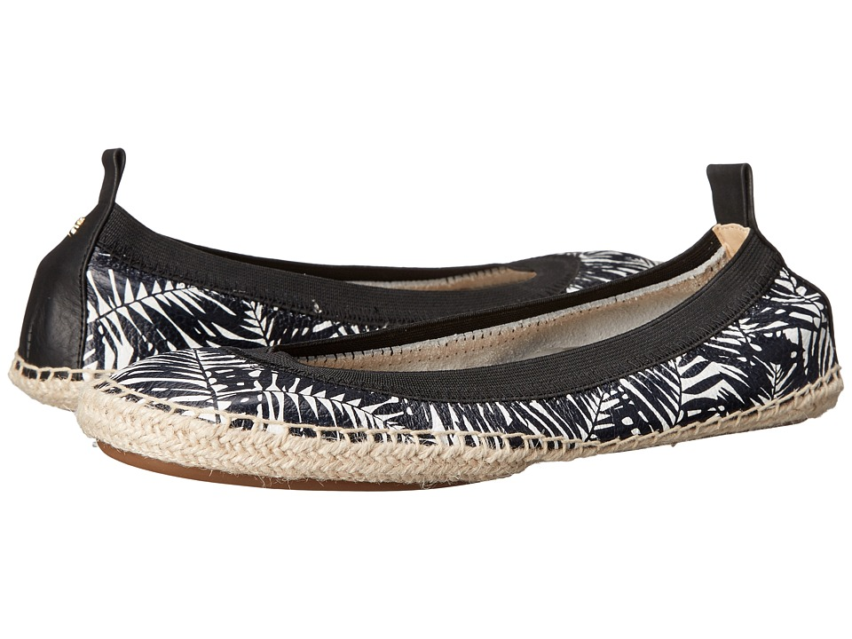 Yosi Samra Lara White/Black Womens Flat Shoes