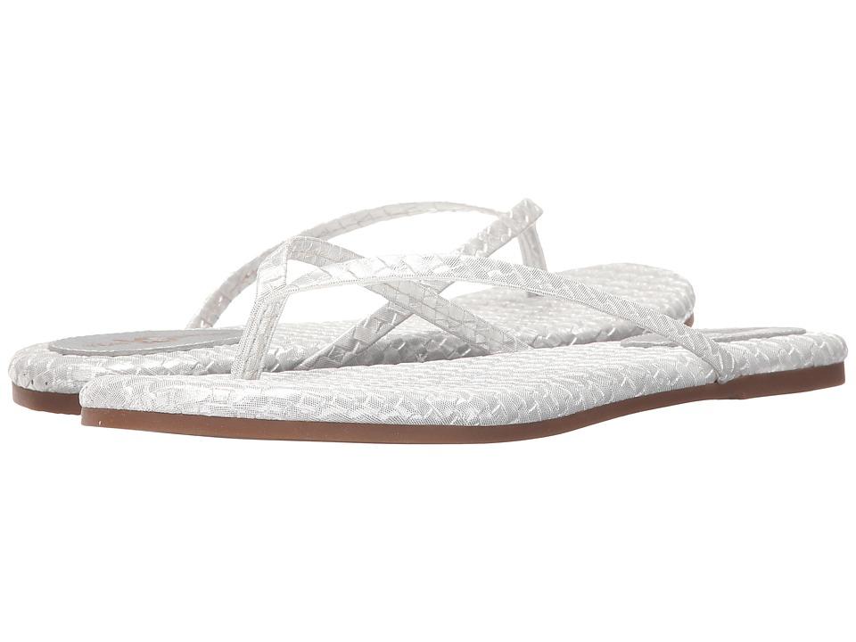 Yosi Samra Roee Light Silver Womens Flat Shoes