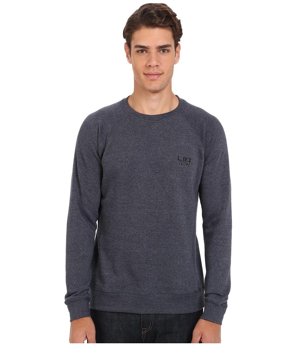 Lib Tech Bellinghammer Crew Sweater Heather Blue Mens Sweatshirt