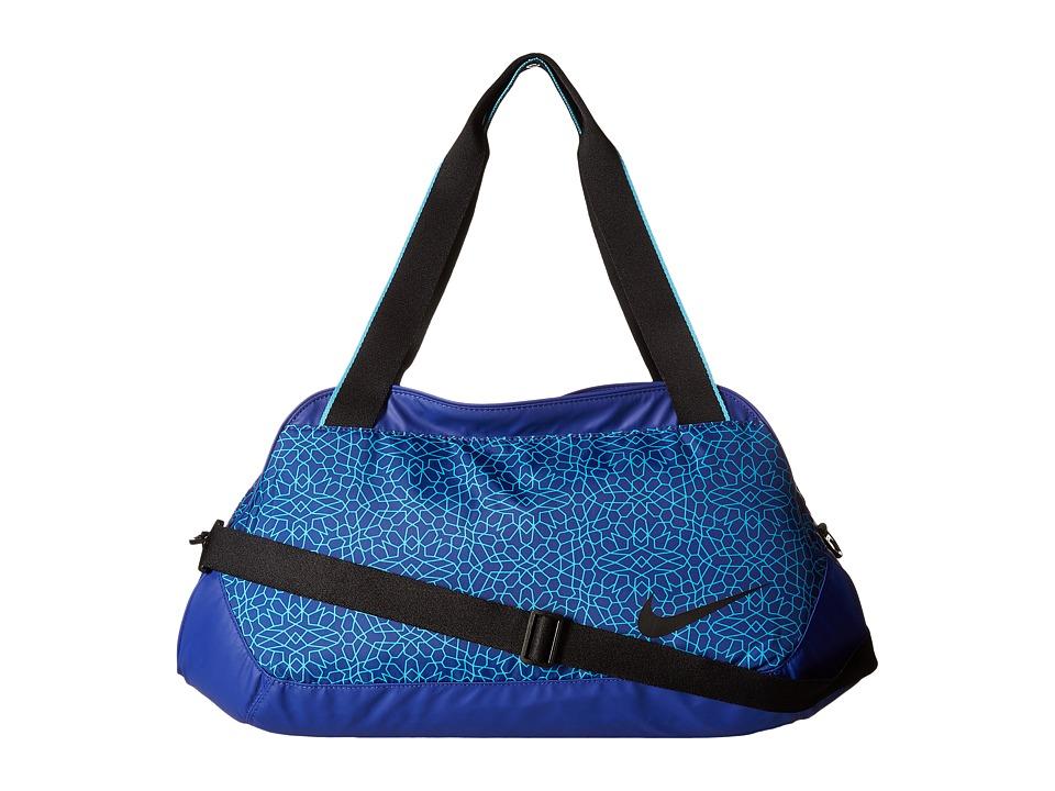 Nike - Legend Club Print (Deep Royal Blue/Omega Blue/Black) Duffel Bags