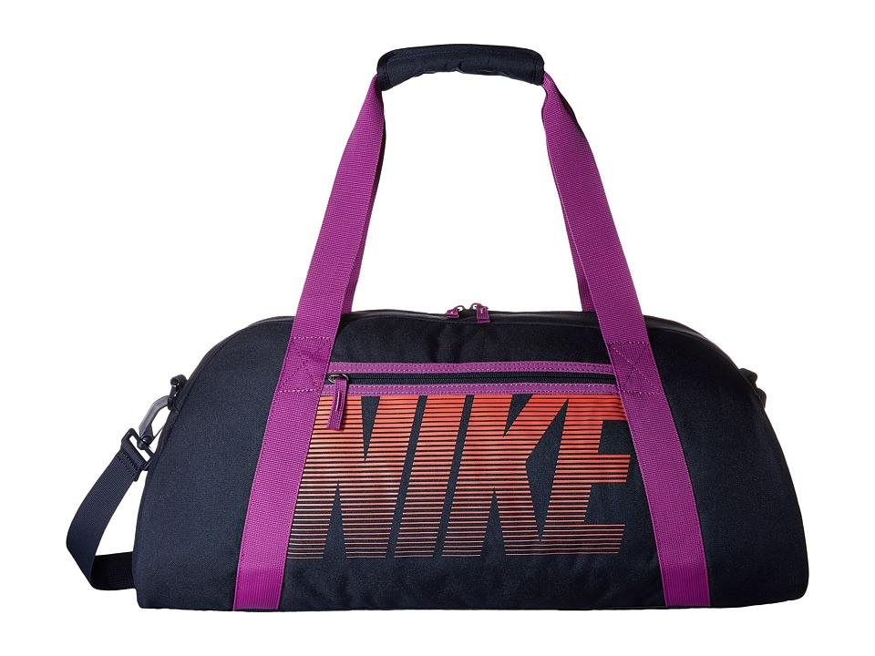 Nike - Gym Club (Obsidian/Cosmic Purple/Light Crimson) Duffel Bags
