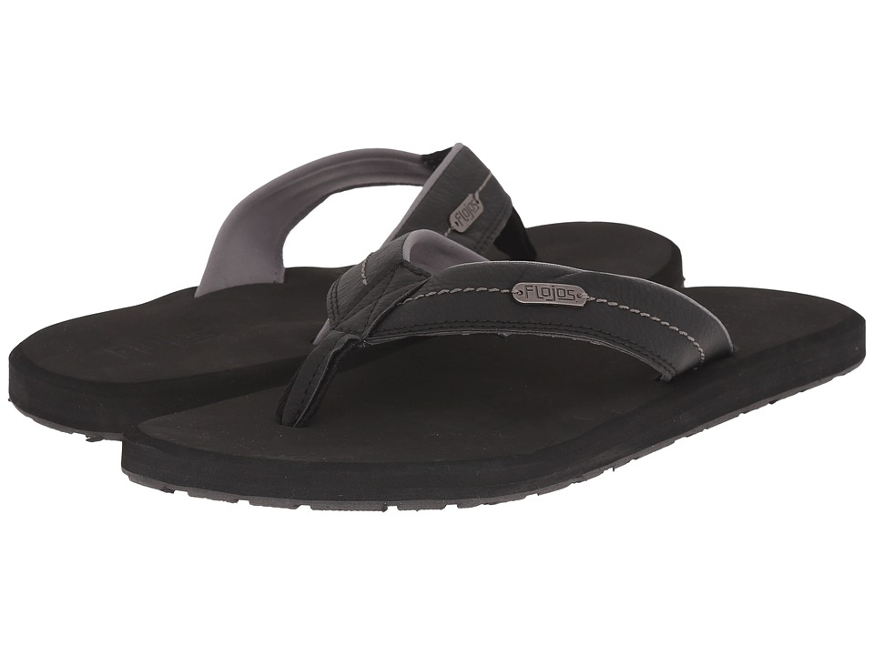 Flojos - Zane (Black) Men's Sandals