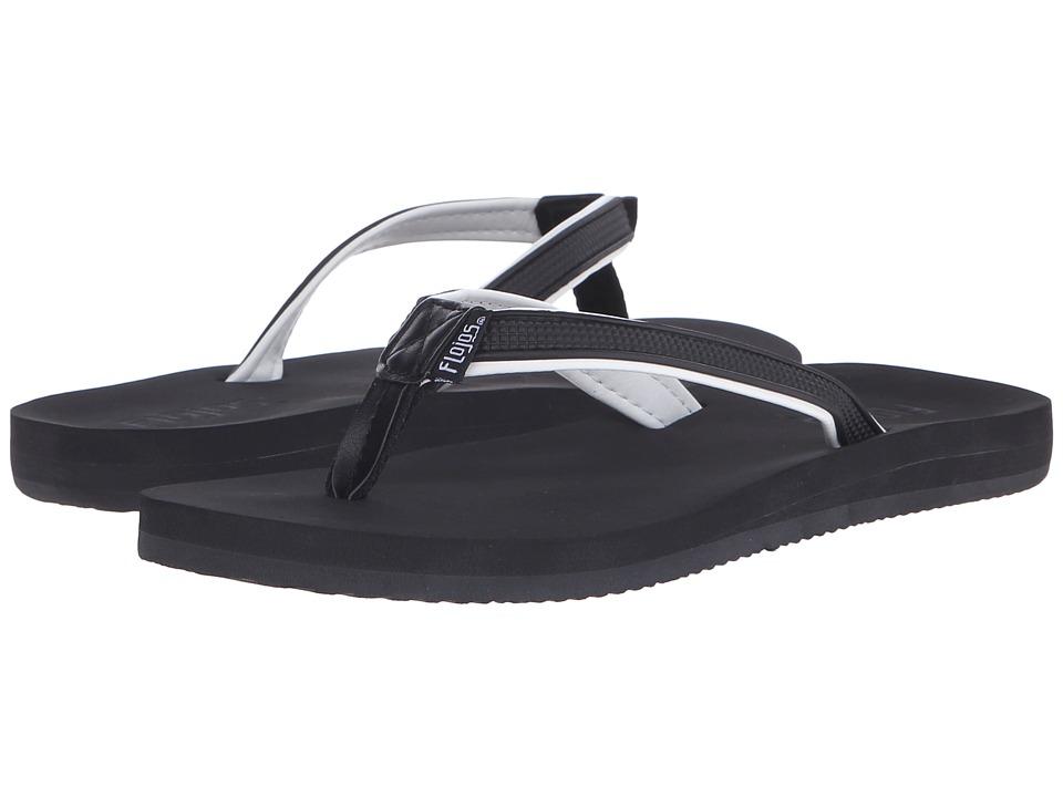 Flojos Maya Black/White Womens Sandals