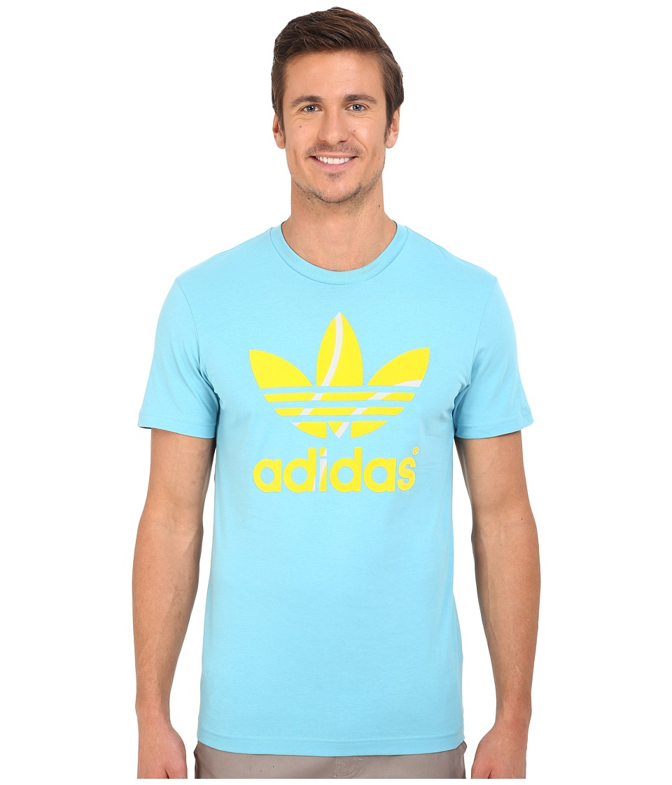 adidas Originals - Flock Tennis Ball Tee (Blanch Sky/Equipment Yellow) Men