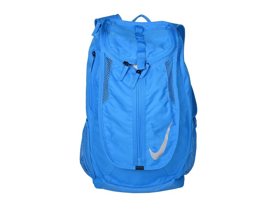 Nike - Football Shield Backpack (Photo Blue/Photo Blue/Metallic Silver) Backpack Bags