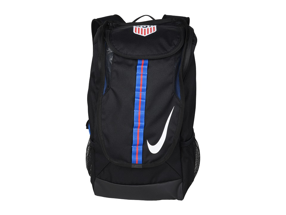 Nike - Allegiance USA Shield Compact (Black/Black/White) Backpack Bags