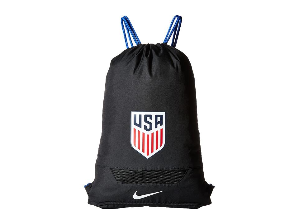 Nike - Allegiance USA Gymsack (Black/Game Royal/White) Backpack Bags
