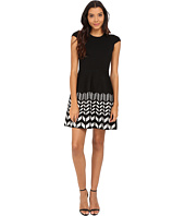 Jessica Simpson - Cap Sleeve Sweater Dress with Printed Skirt