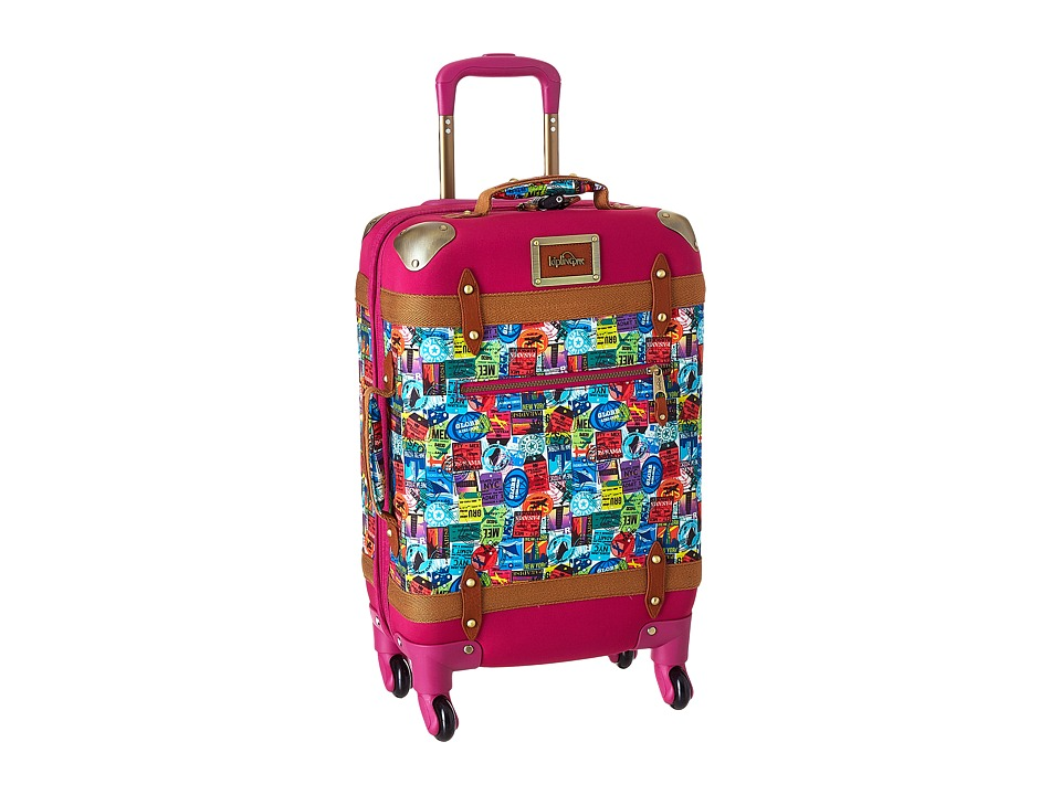 Kipling Around The World Small Wheeled Luggage by David Bromstad Hello Adventure Luggage