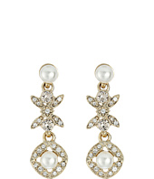 Oscar de la Renta - Lattice Pearl Small Drop P Earrings