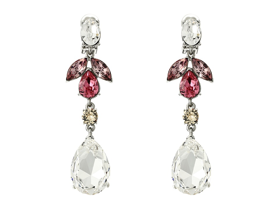 Oscar de la Renta Bold Teardrop Medium Drop C Earrings Rose Earring