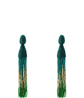 Oscar de la Renta - Ombre Long Beaded C Tassel Earrings