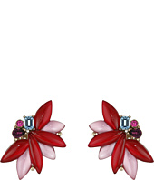 Oscar de la Renta - Navette Petal C Button Earrings