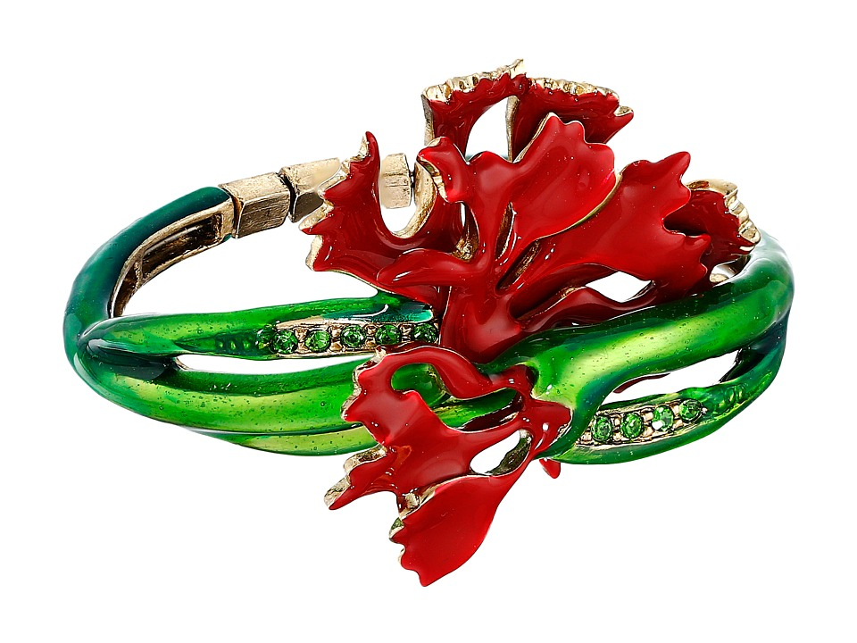 Oscar de la Renta Carnation Bracelet Ruby Bracelet