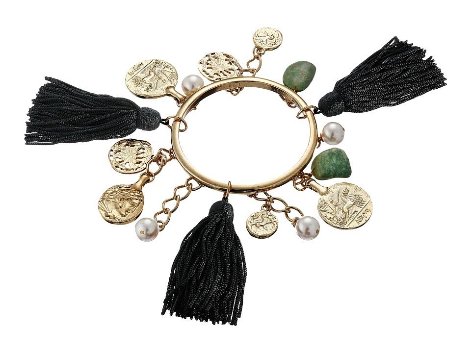 Oscar de la Renta Tassel Charm Bracelet Black Bracelet
