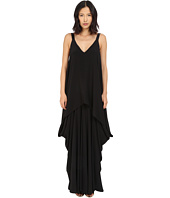 Vera Wang - V-Neck Tiered Dress
