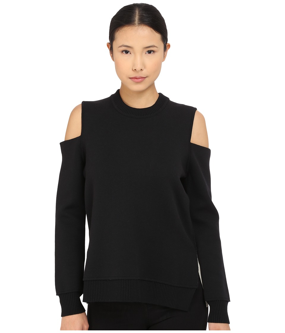 Vera Wang - Cold Shoulder Pullover Double Face Knit (Black) Women