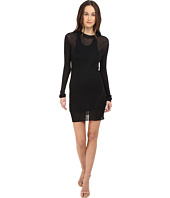 Vera Wang - Long Sleeve Ribbed Dress