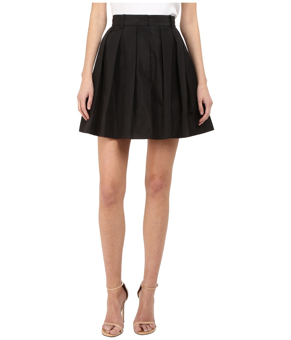 Vera Wang Pleated Voluminous Skirt and Trousers Back Black Womens Skirt