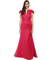 Zac Posen - Bonded Crepe V-Neck Sleeveless Gown