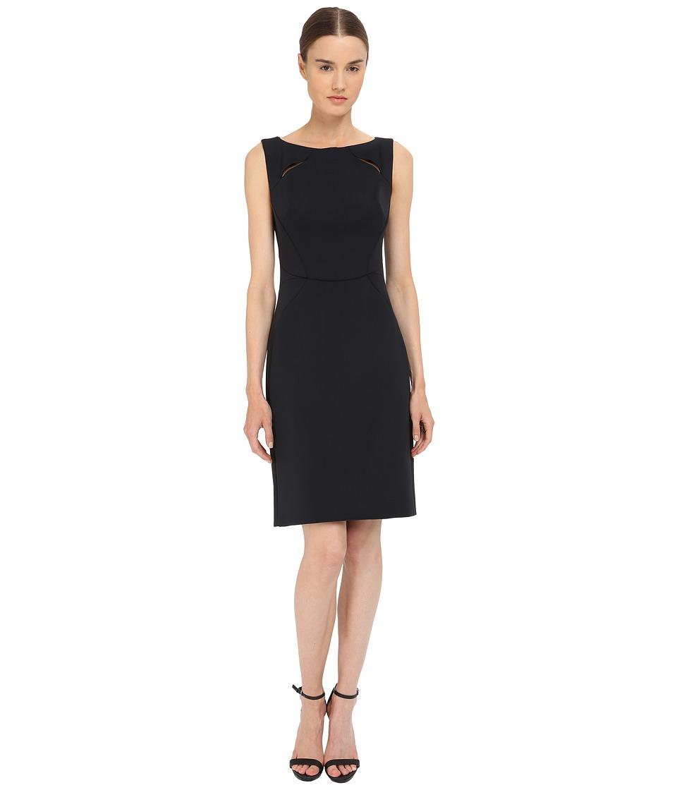 Zac Posen Bonded Crepe Sleeveless Dress Licorice Womens Dress