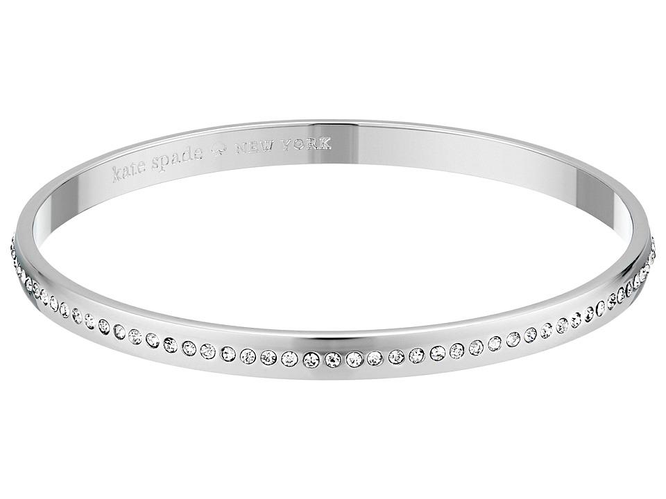 Kate Spade New York Idiom Bangles in A Twinkling Bracelet Clear/Silver Bracelet