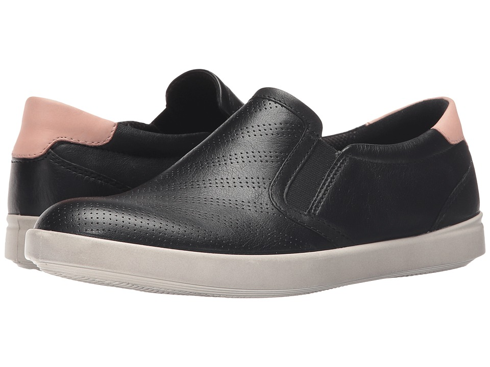 ECCO Aimee Sport Slip On Black/Silver Pink Womens Slip on Shoes