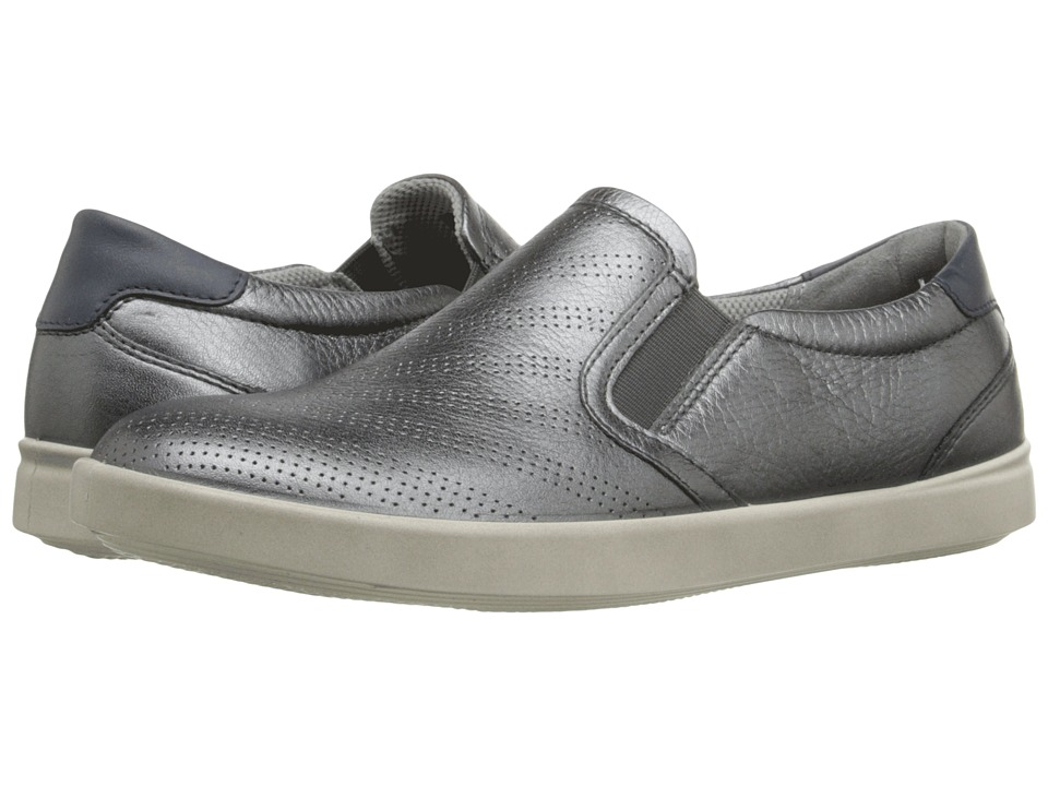ECCO Aimee Sport Slip On Dark Shadow Metallic/Marine Womens Slip on Shoes
