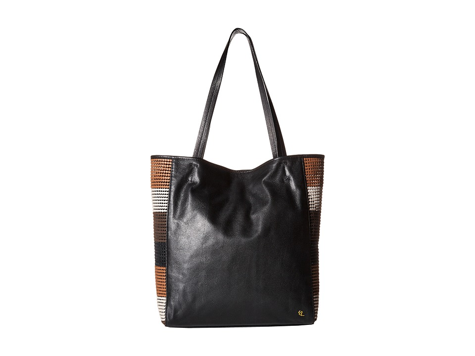 Elliott Lucca Bali 89 All Day Tote Almond Stripe Rendang Tote Handbags