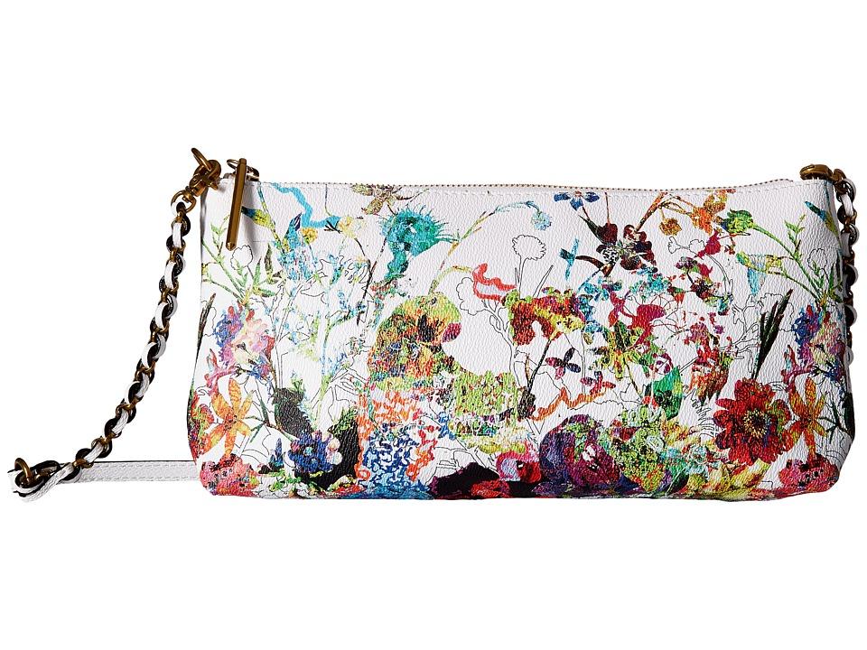 Elliott Lucca Artisan 3 Way Demi Clutch Spring Botanica Clutch Handbags