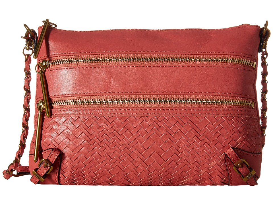 Elliott Lucca Bali 89 3 Zip Clutch Guava Devi Clutch Handbags
