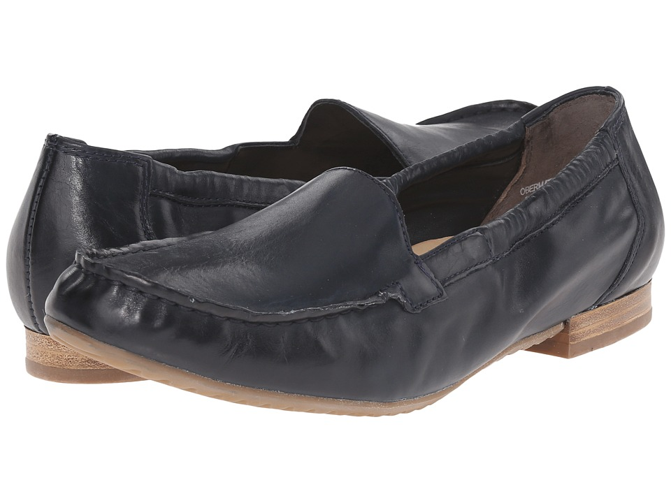 Paul Green Camm Navy Leather Womens Slip on Shoes