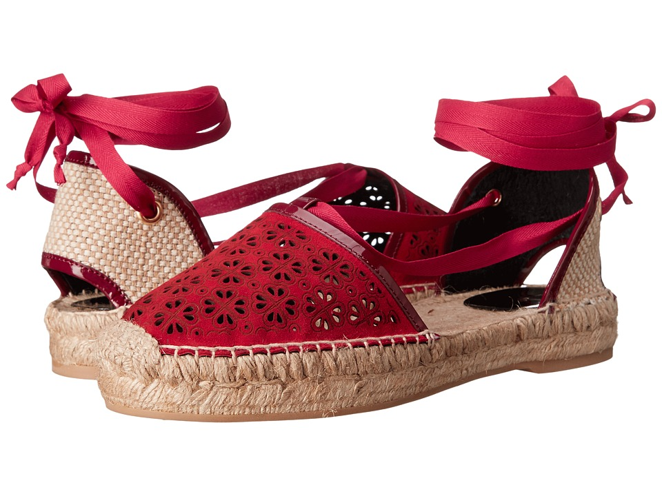 Oscar de la Renta Adriana Ruby Lasercut Suede Womens Shoes