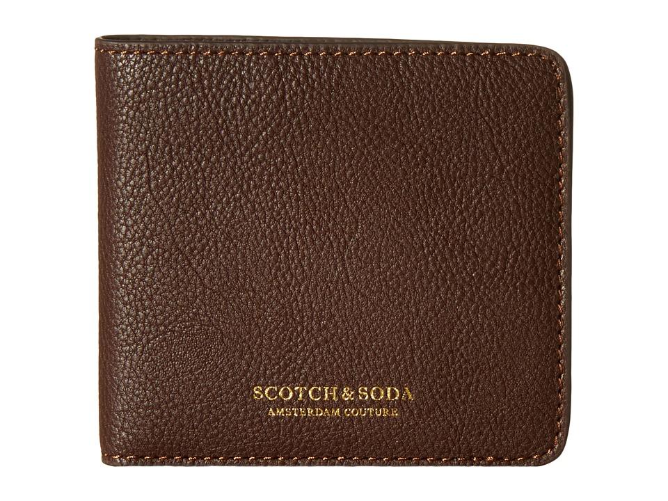 Scotch amp Soda Leather Wallet Brown Wallet Handbags