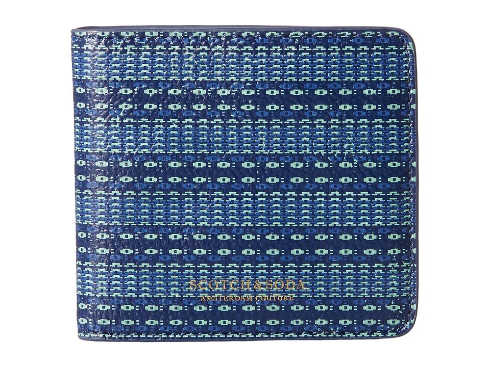 Scotch amp Soda Leather Wallet Blue Wallet Handbags