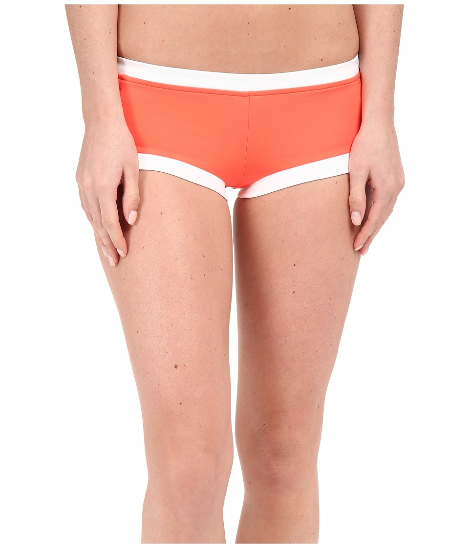 Seafolly Block Party Boyleg Nectarine Womens Swimwear
