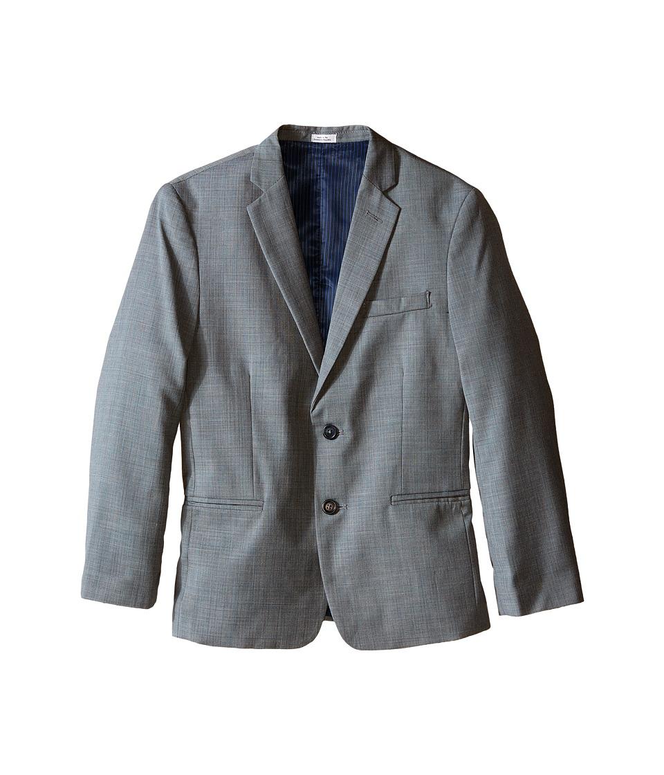 Calvin Klein Kids - Sharkskin Blue Deco Husky Jacket (Big Kids) (Light Grey) Boy
