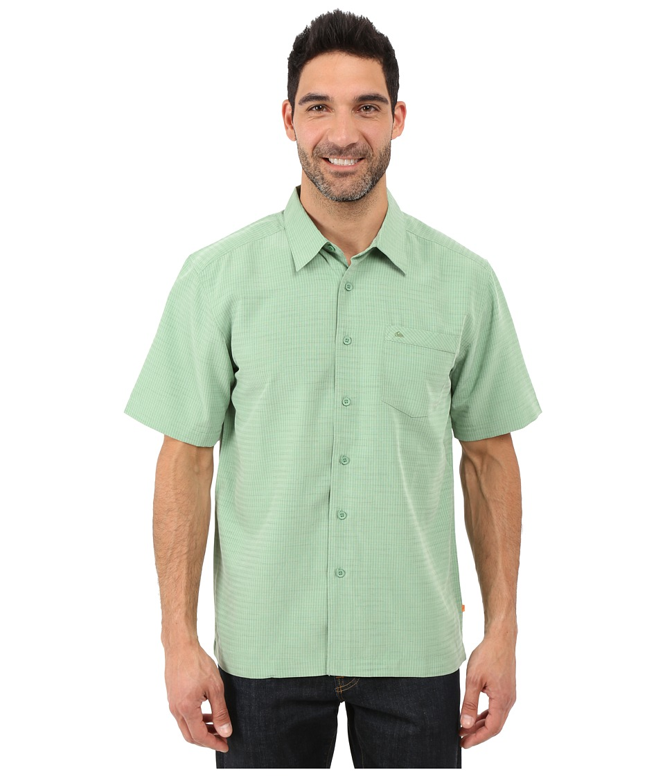 Quiksilver Waterman Centinela 4 Traditional Polynosic Woven Top Agave Mens Clothing