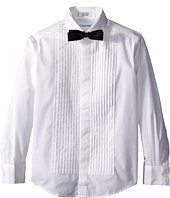 Calvin Klein Kids - Long Sleeve Tuxedo Shirt and Bowtie Set (Big Kids)