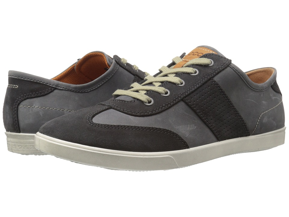 ECCO Collin Retro Sneaker Moonless/Moonless Mens Shoes